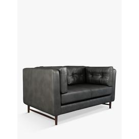 image-John Lewis & Partners Booth Small 2 Seater Leather Sofa, Dark Leg
