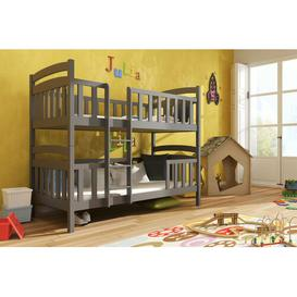 image-Azaiah Single (3') Bunk Bed with Drawers Isabelle & Max Colour (Bed Frame): Graphite