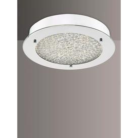 image-Där Peta LED Semi Flush Bathroom Ceiling Light, Small, Polished Chrome