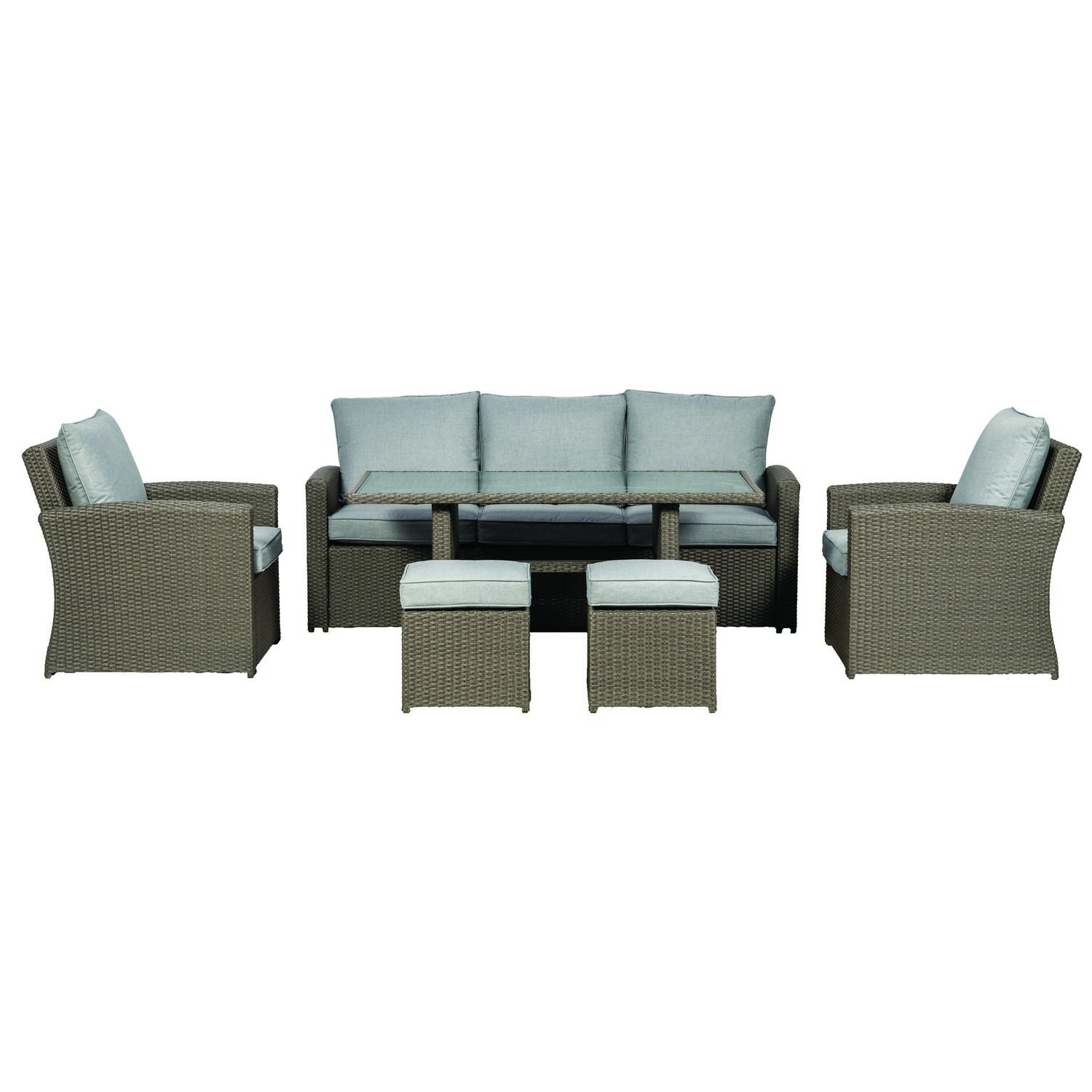 image-Royalcraft Garden Furniture Paris 7 Seater Deluxe Sofa Dining Set