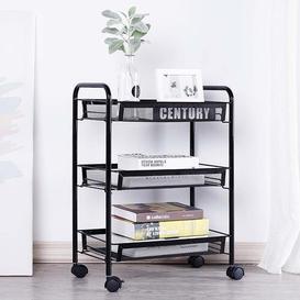 image-Bolick Serving Cart Symple Stuff Colour: Black