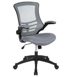 image-Pergande Ergonomic Mesh Desk Chair Blue Elephant Upholstery Colour: Grey, Frame Colour: Black