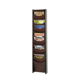 image-Wall Mounted or Free Standing Magazine Rack Symple Stuff Size: 60cm H x 28.6cm W x 9.5cm D, Finish: Mahogany