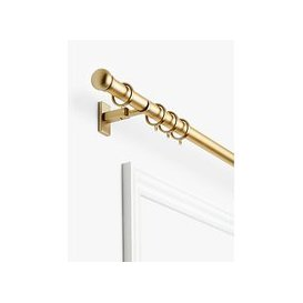 image-John Lewis & Partners Made to Measure Hand Drawn Revolution Universal Pole System Curtain Pole with Rings and Button Finials, Wall / Ceiling Fix, Dia.30mm