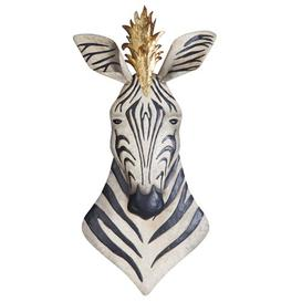 image-King of the Herd Safari Zebra Metal Wall Decor Design Toscano