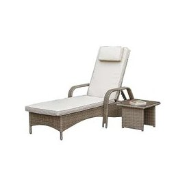 image-Verde Sun Lounger with Table
