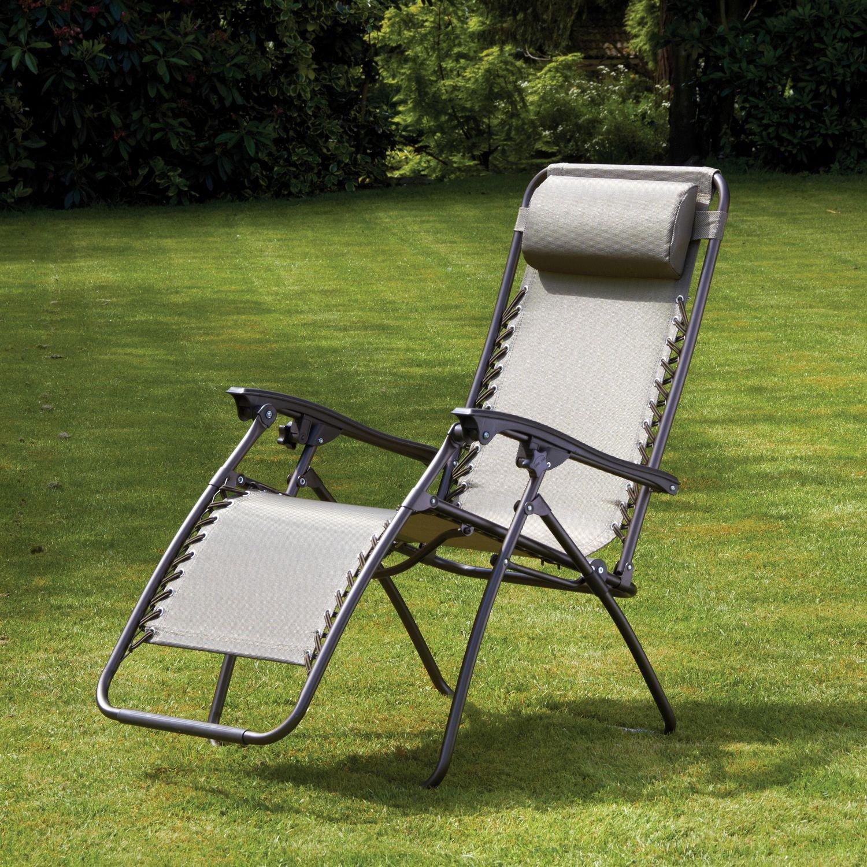 image-Royalcraft Metal Garden Furniture Zero Gravity Relaxer Chair