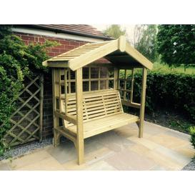 image-Cottage 3 Seater Garden Arbour Trellis Back and Sides - Churnet Valley