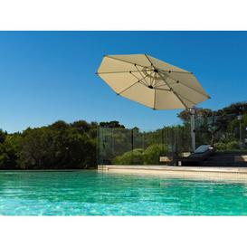 image-4m Cantilever Parasol Symple Stuff Colour: Cream, Base Type: In-ground Fitting