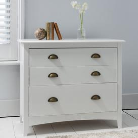 image-Chest of Drawers 3 Drawer in White