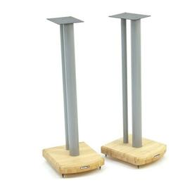 image-70cm Fixed Height Speaker Stand Symple Stuff Finish: Silver/Natural Bamboo