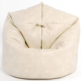image-Bean Bag Chair Ebern Designs Colour: Cream