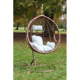 image-Giguere Garden Patio Swing Chair with Stand Bay Isle Home Colour (Frame): Brown
