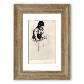 image-Mother Nurses Child - Picture Frame Photograph Print on Paper