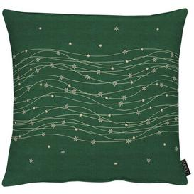 image-Christmas Elegance Cushion Cover Apelt Colour: Green and gold