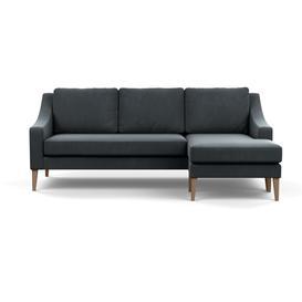 image-Heal's Richmond Corner Chaise Sofa Smart Velvet Grey Tinted Ash Feet