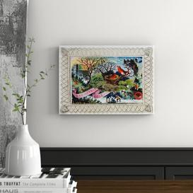 image-A Christmas Greeting, Victorian Postcard Graphic Art on Canvas East Urban Home Size: Small