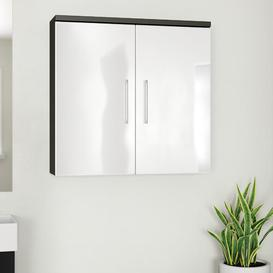 image-Salona 70 x 68cm Wall Mounted Cabinet Belfry Bathroom Finish: Anthracite / White