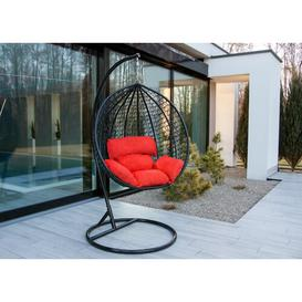 image-Krista Swing Chair with Stand Freeport Park Colour (Cushion): Red