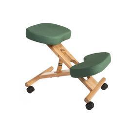 image-Wood Framed Kneeling Chair, Green