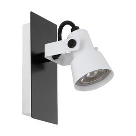 image-Eglo 97371 Trillo 1 Light Wall Spotlight In White And Black