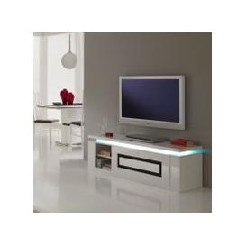 image-Garde Tv Stand In White Gloss And Black With Lights