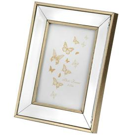 image-Hill Small rectangle mirror bordered photo frame.