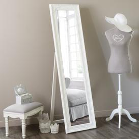 image-Cheval Mirror in White 164x44