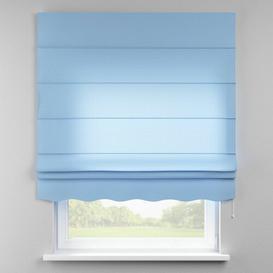 image-Loneta Semi-Sheer Roman Blind Dekoria Size: 80cm W x 170cm L, Finish: Blue