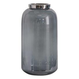 image-Large Smoked Vase Grey