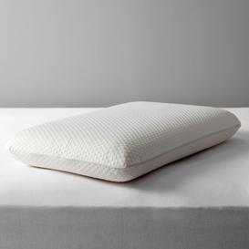 image-John Lewis & Partners Specialist Synthetic Memory Foam Standard Support Pillow, Medium/Firm