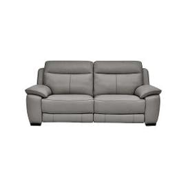 image-Starlight Express 3 Seater Leather Manual Recliner Sofa - Grey- World of Leather