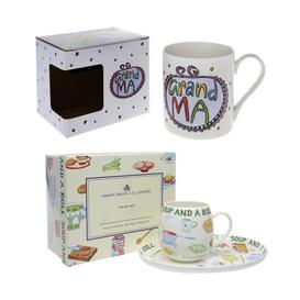 image-Christmas Hamper for Granma 2 Piece Bone China Mug Set Mercury Row