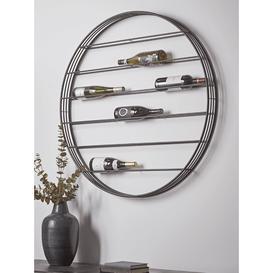 image-Round Wall Mounted Wine Rack