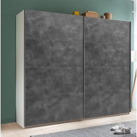 image-Systema 2 Door Sliding Wardrobe Brayden Studio Size: 223cm H x 250cm W x 60cm D, Finish: White