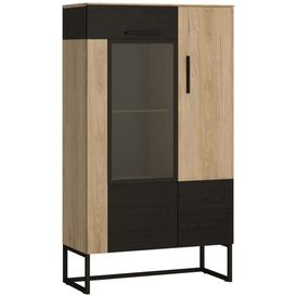 image-Cordoba Low Display Cabinet - Light Jackson Hickory and Dark Accents