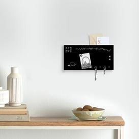 image-Perpetual Calendar Key Hook Ebern Designs Finish: Black