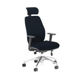 image-Budd Ergonomic Desk Chair Ebern Designs Frame Colour: Black/Chrome, Upholstery Colour: Black