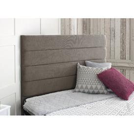 image-Salmon Upholstered Headboard Rosdorf Park Size: Small Single (2'6), Upholstery: Pebble
