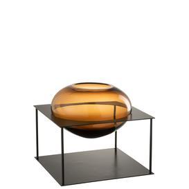 image-Vase Joyce Brown/Black Metal/Glass Large