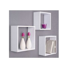 image-Austria Set of 3 Wall Mounted Shelves In White
