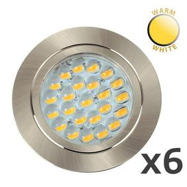 "image-Pearl 2.75"" LED Slim Profile Recessed Lighting Kit Symple Stuff Bulb Type: Integrated Warm White LED"