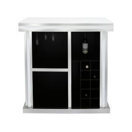 image-White Montague Mirrored Wine Bar Cabinet