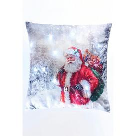 image-Father Christmas Light-Up Filled Cushion