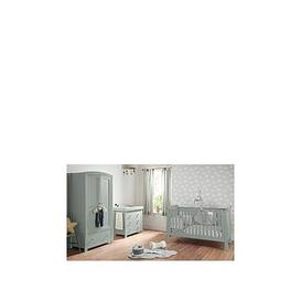image-Mamas & Papas Mia Sleigh Cot Bed, Dresser Changer And Wardrobe