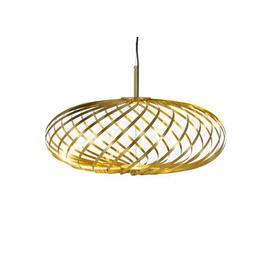image-Spring Small LED Pendant - / ├ÿ 56 x H 24 cm -Adjustable steel strips by Tom Dixon Brass