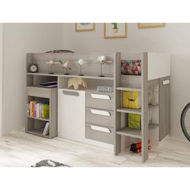 image-Gilliam Single Mid Sleeper Bed with Drawers Ebern Designs Colour (Bed Frame): White