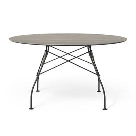 image-Kartell - Glossy Outdoor Round Dining Table - Aged Bronze/Black