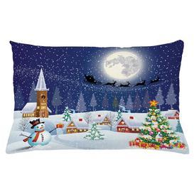 image-Ejvind Christmas Winter Landscape Outdoor Cushion Cover Ebern Designs Size: 40cm H x 65cm W
