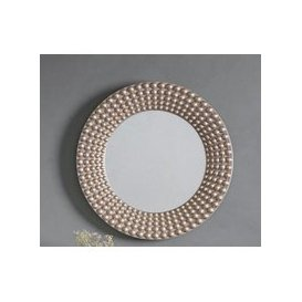 image-Gallery Direct Cascade Silver Round Mirror